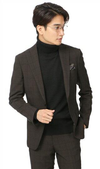秋冬用 ブラウン系 スタイリッシュスーツ URBAN SETTER BLACK
