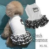 新作犬服犬服小型犬チェックスカートワンピースドッグウエアXSSMLXL