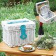 ピクニックバスケット(WH) ピクニック カゴ アウトドア 食器セット 保冷バック 大人インテリア 【ポイント5倍 4月】