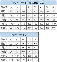 Yシャツサイズ表(大きいサイズ)