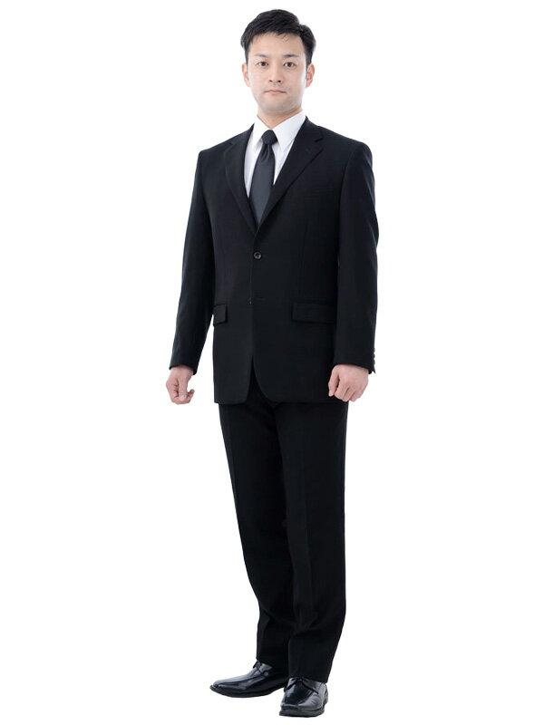 【レンタル】当日発送 [夏用][喪服レンタル][礼服男性用][往復送料無料][3泊4日]レンタル礼服シングルサマー[ブラックフォーマル][ブラックスーツ][急ぎ][都内即日発送][メンズスーツ]NAYK003