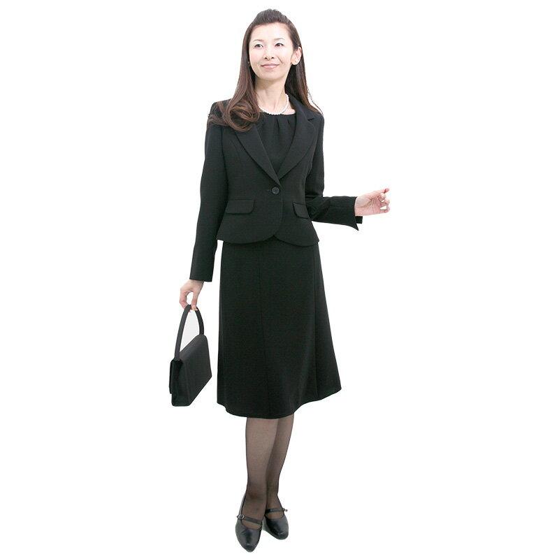 【レンタル】[marie claire(マリ・クレール)]女性礼服206 9号 [スリーピース] [スカートスーツ] [可愛い喪服] [華奢] fy16REN07 [ls]