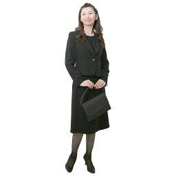 【レンタル】[501] ベーシックなデザインのジャケット・インナー・スカートのスリーピース喪服・礼服(テーラードカラー){7号}{2}{3}{4}{5}{6}5分袖/礼服レンタル/喪服レンタル/レディース/お通夜/法事【0AZY501】