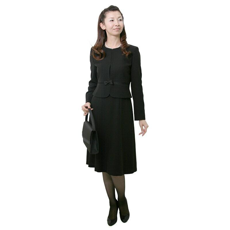 【レンタル】[512] 着丈115cmのロング丈細身ワンピースとジャケットのアンサンブル喪服・礼服(ノーカラー){13号}{2}{3}{4}{5}{6}7分袖/前ファスナー/礼服レンタル/喪服レンタル/レディース/お通夜/法事