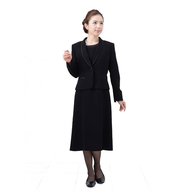 【レンタル】[623] 着丈90cmのショート丈授乳対応ワンピースとジャケットのアンサンブル喪服・礼服(ヘチマカラー){15号}{2}{3}{4}{5}{6}5分袖/礼服レンタル/喪服レンタル/レディース/お通夜/法事
