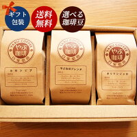 コーヒー豆ギフト(やぶ珈琲・キリマンジャロ・ガテマラSHB)