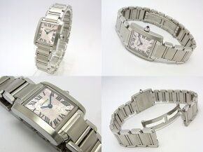 【】【程度A+】【仕上げ済み】カルティエタンクフランセーズSMSS2006年クリスマス限定ハッピーバースデーW51031Q3レディース腕時計