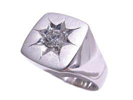 Pt900プラチナ指輪印台ノーブランドリングダイヤ0.30ct【中古】【程度A】【美品】