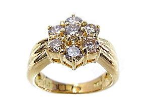 【送料無料】【手数料無料】【】【程度A+】【美品】K18YGイエローゴールド指輪ダイヤ1.00ctノーブランドリング
