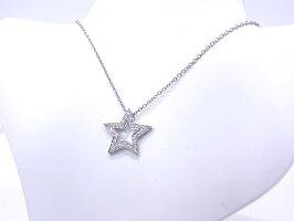 ティファニーTIFFANY&COスターネックレスダイヤモンドプラチナ950Pt950星型【中古】【程度A】【美品】