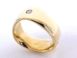 ミキモトMIKIMOTOダイヤモンドリングK18YGイエローゴールド指輪ダイヤ3石【中古】【程度A+】【美品】