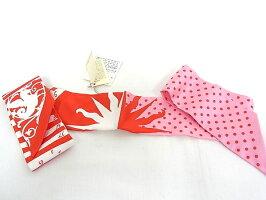 エルメスHERMESスカーフツイリーシルク100%レディースバンダナ赤/ピンクドットペガサス【未使用】【程度S】【極上美品】