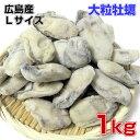 広島産 大粒Lサイズ牡蠣 業務用たっぷり1Kg 広島産 カキ 牡蠣 無添加食品 鍋パーティー ギフト 贈り物 プリプリでおいしいよ バター焼き 雑炊 カキフライ