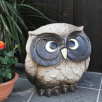 Shin Shigaraki Pottery OWL figurine! OWL called happy! / OWL / pottery OWL and Shin raku pottery and OWL figurine / OWL and while big shine / ceramics / pottery / gift