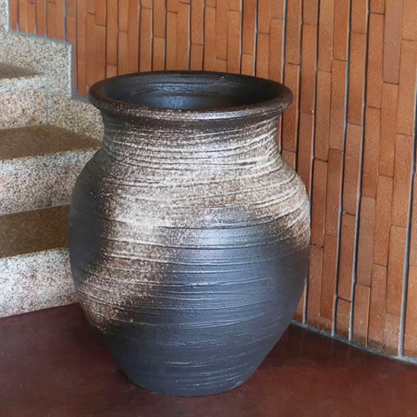 大壷 信楽焼 つぼ 大ツボ 陶器 つぼ 花瓶 しがらき焼き
