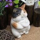 ボスねこ置物信楽焼!陶器の可愛いネコ置物!インテリア/しがらきやき/ねこ/やきもの/猫置物/猫/縁起物/ギフト[ok-0054]