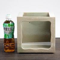 マルイチ奥田陶器『陶器水槽信楽焼の角型水槽』