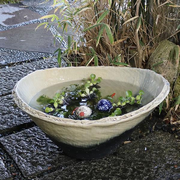 睡蓮鉢 陶器スイレン鉢 ハス鉢 はす鉢 めだか鉢 鉢 陶器 水連鉢 水鉢 睡蓮鉢