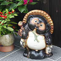 10 Good luck raccoon! Shigaraki-yaki raccoon! And luck raccoon / pottery Tanuki and raccoon dog figurines / pottery / while big Shine / pottery / Tanuki raccoon Shigaraki and Badger [ta-0009]