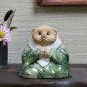 送料無料 ミニお坊さんたぬき合掌型 信楽焼 たぬき縁起物タヌキ 陶器タ...