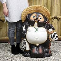 信楽焼き大きな25号福タヌキ