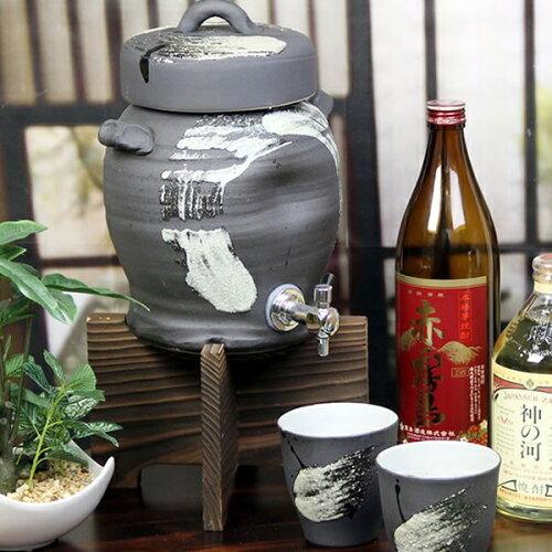 黒ハケメ焼酎サーバー2.5リットル★美味しくなると評判です★ギフトにも最適!◆名...