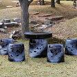 【送料無料】20号信楽焼ガーデンテーブル/陶器テーブル/焼き物/お庭、ベランダ用庭園セット/ガーデンテーブルセット/陶器/イス/信楽焼テーブル/ガーデンセット/屋外用[te-0013]
