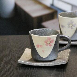 信楽焼咖啡杯/桃子櫻花咖啡碗盤子/陶器咖啡/碗盤子/信樂/碗盤子/陶瓷器/器/咖啡廳啤酒杯/以及多達和服/土的/啤酒杯茶杯/茶杯/餐具/啤酒杯/shigaraki[w807-06][輕鬆的gifu_伸展的收件人][輕鬆的gifu_輕鬆的gifu_伸展][輕鬆的gifu_展覽中心輸入]
