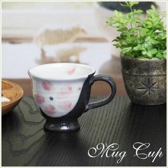 Shin 長崎陶杯! 馬克杯紅色的花啊! 地球 / 漱口杯 / 菜 / 陶瓷杯 / 咖啡杯 / 咖啡碗 / 陶瓷 / 杯 / 杯啤酒 / 啤酒杯 / 咖啡館 Mag