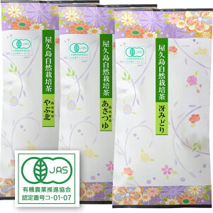 [2020 organic new tea] s gthree organic varieties h made by us t Yakushima naturally cultivated tea 100g × 3 / free shipping