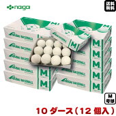 【送料無料】9月中旬出荷予定新軟式野球ボールナイガイ内外ゴムM号(一般・中学生向け)メジャー検定球10ダース