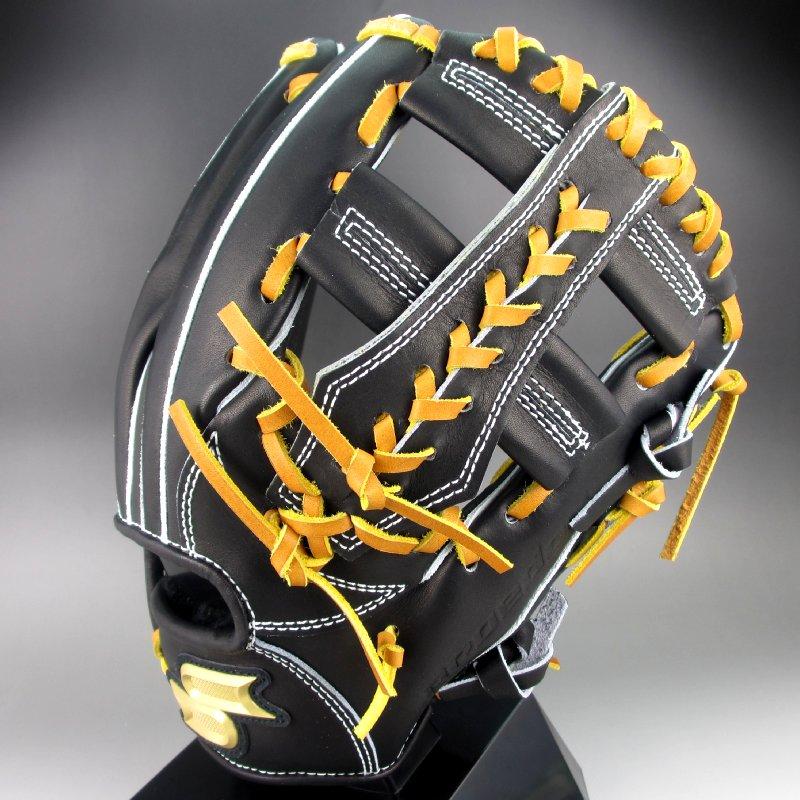 2017年モデル エスエスケイ SSK 一般硬式内野手用 右投げ Pro Edge PEK-84817(9047)ブラックxタン:カスカワ野球