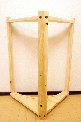 【家具職人の作ったロッドスタンド】RS-32ピース用太穴9本用ヒノキ無垢材使用受注生産品送料1000円(全国一律)