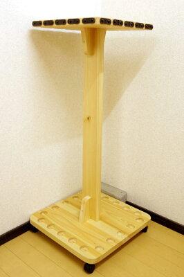 【家具職人の作ったロッドスタンド】RS-211ピース用標準穴20本用ヒノキ無垢材使用受注生産品送料1000円(全国一律)