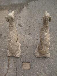 犬のオブジェ1対2匹1組価格