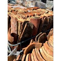 【送料込み】【自宅までお届け】小サイズ門柱の笠木などにおすすめフランスアンティーク瓦8枚入り