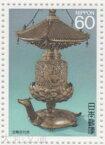 【記念切手】 第3次国宝シリーズ 第2集A「金亀舎利塔」 記念切手シート 昭和62年(1987年)発行【切手シート】