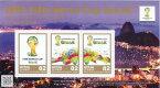 【小型シート】 FIFAワールドカップ ブラジル2014 日本公式記念切手B 平成26年(2014年)【 サッカー 】