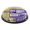 三菱ケミカルメディアDHR85HP11SD5データ用DVD-RDL(片面2層)インクジェットプリンタ対応ワイドレーベルスピンドル11枚パック