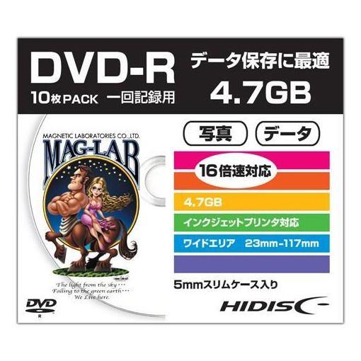HIDISC HDDR47JNP10SC データ用DVD-R スリムケース入り10枚パック