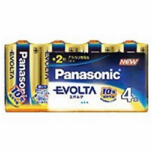 パナソニック エボルタ アルカリ乾電池 単2形 4本 LR14EJ4SW