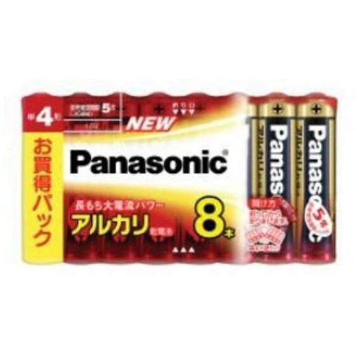 パナソニック アルカリ乾電池 単4形 8個