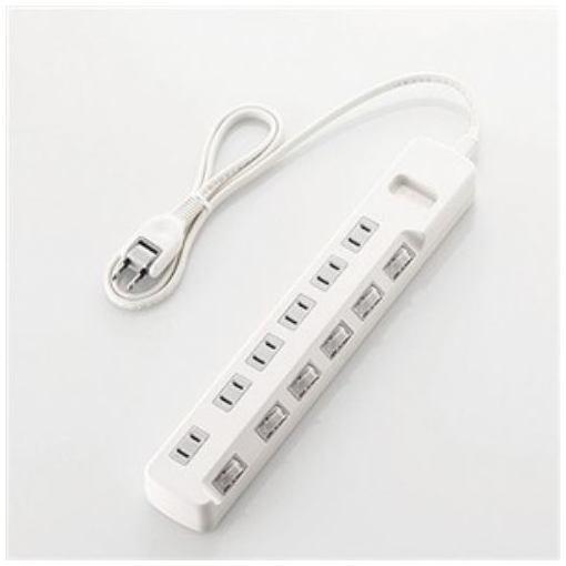 エレコム 電源タップ 省エネタップ 2P式/6個口/3m 個別スイッチ付 ホワイト T-E5A-2630WH ELECOM