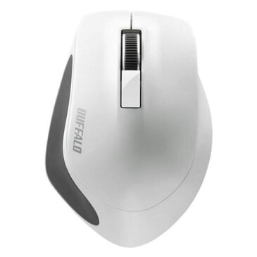 【ポイント10倍!】バッファロー BSMBW300MWH Premium Fitマウス無線/BlueLED光学式/静音/3ボタン/Mサイズ ホワイト