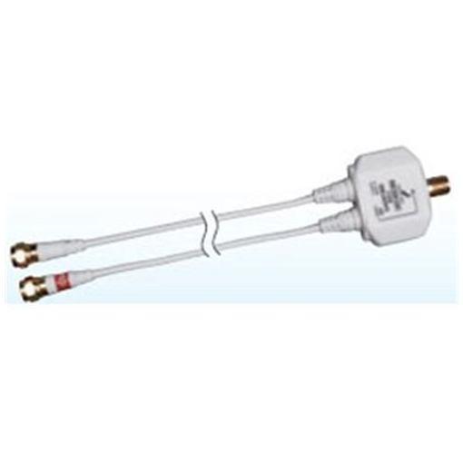 DXアンテナ MBUMWS(B) ケーブル付きBS・CS / UHF分波器 (出力:0.5m) 出力:F型コネクター(ねじ式プラグ)