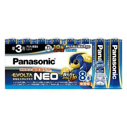 パナソニック エボルタ エボルタNEO アルカリ乾電池 単3形 8本パック LR6NJ 8SW [9057]