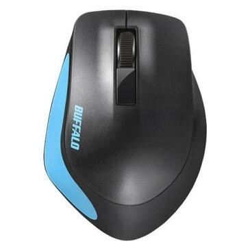 【ポイント10倍!】バッファロー BSMBW300MBL Premium Fitマウス無線/BlueLED光学式/静音/3ボタン/Mサイズ ブルー