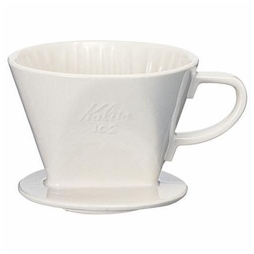 カリタ 陶器製コーヒードリッパー 102-ロト ホワイト 2-4人用