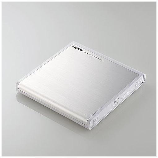 ロジテック USB2.0ポータブルDVDドライブ 書込ソフト付き ホワイト LDR-PMJ8U2LWH