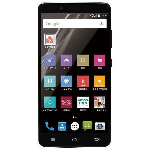 ヤマダ電機オリジナルモデル EP-171AC/B Android搭載SIMフリースマートフォン EveryPhone AC ブ...